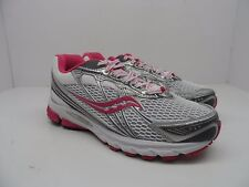 Saucony Girl's Progrid Ride 5 Running Shoes Silver/Pink Size 5.5