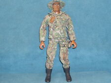"GI JOE 12"" ACTION FIGURE HASBRO 1996 ACTION MAN SOLDIER HAT AND DOG TAGS #02281"