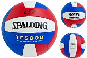 Spalding TF5000 Tournament Leather Wave Volleyball Official Size