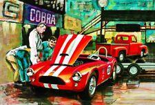 AMT 1073 SHELBY COBRA RACING TEAM W/ '53 FORD PICKUP & TRAILER model kit 1/25