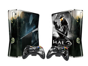 Xbox 360 Slim Console Skin Sticker Halo Anniversary Vinyl Decal Sticker