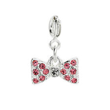 New Avon Pink Bow Tie Charm for your Charm Bracelet-  Free P&P look great