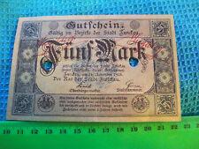 Germany 1918 Banknote,,. Zwickau town... 5 Marks.