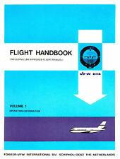 FOKKER - VFW 614 / FLIGHT HANDBOOK VOLUME 1 / 1974 + 2 BROCHURES (1972 & 1976 )