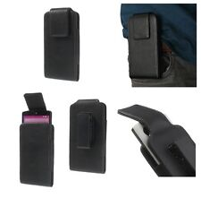 FUNDA Piel CINTURON para # APPLE IPHONE 5 # CLIP Giratorio PREMIUM