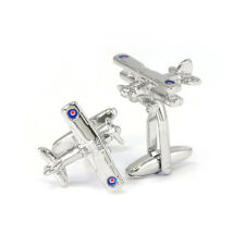 Biplane with Roundels Cufflinks in Gift Box Bi-Plane Aircraft Airplane AJ196 BN