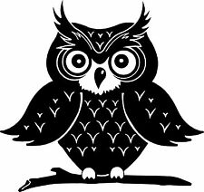 Big Eyebrow Owl Pick Your Color Vinyl Car Window Sticker Bumper Silhouette