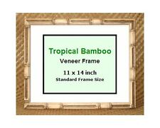 """Tropical Bamboo picture frame ~ 11x14"""" ~ New ~ Glass included ~ Made in Hawaii"""