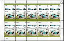 1969 MATRA FORD MS80 GP Race Car 20-Stamp Sheet / Auto 100 Leaders of the World