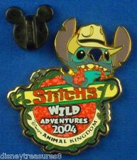Stitch's Wild Adventures 2004 Logo Pin Animal Kingdom Disney Pin # 31693