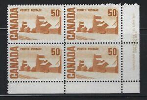 CANADA - #465A - 50c SUMMER'S STORES CENTENNIAL ISSUE LR PLATE #2 BLOCK MNH