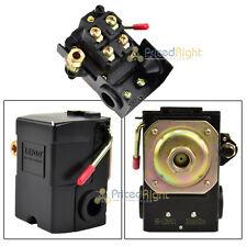 Single Port Air Compressor Pressure Switch Control Valve 95-125 PSI w/ Unloader
