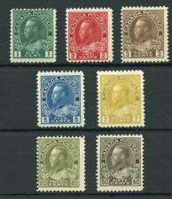 Canada 1911-22 short set to 50c SG198/215 (exc 10c) fine MNH