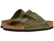 Men's Shoes Birkenstock ARIZONA Soft Footbed Slide Sandals 1014451 JADE LEATHER