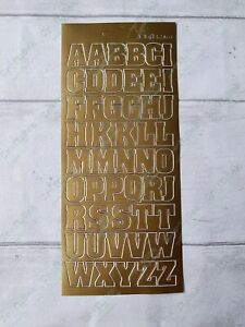 JEJE peel off outline sticker - XL capital letters - gold silver !FREE P&P!