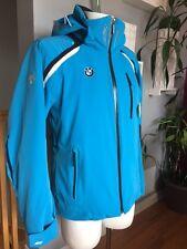 DESCENTE BMW UNIQUE Winter Ski Snowboard Parka Insulated Jacket Men Small Blue