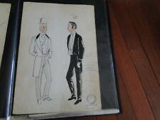 Vintage Alvin Colt Tony Award Winning Costume Designer Original Design Painting