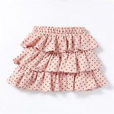 Gonne rosa per bambine dai 2 ai 16 anni 100% Cotone