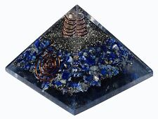 Extra Large (70-75mm) Lapis Lazuli Orgone Gemstone X-Large Pyramid Orgonite