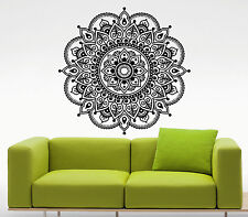 Mandala Lotus Flower Wall Decal Indian Vinyl Sticker Yoga Art Decor Mural (40u)