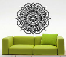 Mandala Lotus Flower Wall Decal Indian Vinyl Sticker Yoga Art Decor Mural (40u)
