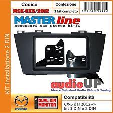 MASCHERINA RADIO 2 DIN MAZDA CX5 DAL 2012 KIT DOPPIO DIN E SINGOLO CON CASSETTO