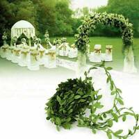 10M DIY Fake Plant Vine Ivy Leaf Chain Garland Floral Wreath Home Party Decor