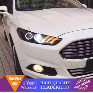 For Ford Fusion 2013-2016 Headlights Double Lens Beam Projector HID LED DRL