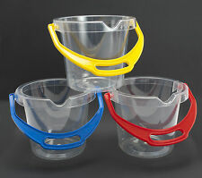 3 x cubo claro dantoy robusto con Mango Tadpole Cangrejo Playa Arena Cubo de Agua