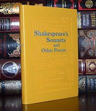 Shakespeare's Sonnets Poems  Brand New Unabridged Deluxe Soft Leather Feel