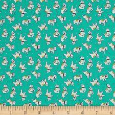Caja De Juguetes Perros Verde Tela P&B Textiles miniaturas FQ + más 100% algodón