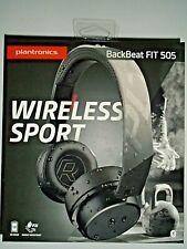 "Plantronics BackBeat FIT 505 Wireless Sport Headphones - Black ""NEW"""