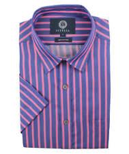 Viyella Blue with Pink Stripe Short Sleeve Shirt