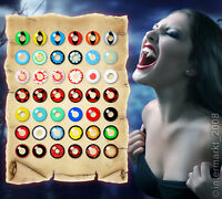 Crazy Kontaktlinsen:Halloween,Fasching, Karneval + Behälter - SUPER ANGEBOT!
