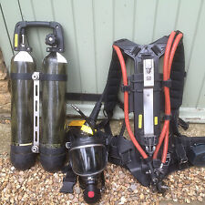 DRAEGER DRAGER BREATHING APPARATUS BA Twin Carbon Composite Cylinders prepper