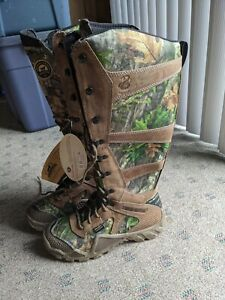 Womens 9 Snake Proof Boots Waterproof Camo Scent Ban Hunting Boots Irish Setter