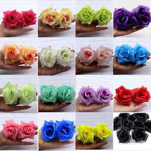 8cm Artificial Silk Rose Heads Fake Flower Buds DIY Bouquet for Home Wedding NEW