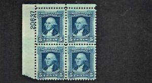 1932 U.S. COMMEMORATIVE 5c Blue Washington Plt#Blk Sc#710 Mint No Gum See Note