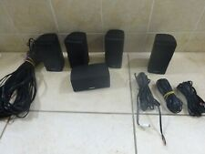 5 BOSE DOUBLE CUBE SPEAKERS 1 HORIZONTAL BLACK  LIFESTYLE AV 10 15 18 28 38 48