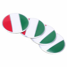 4x Auto Wheel Center Hub Cap Emblem Badge Decal Sticker Italy Flag Universal