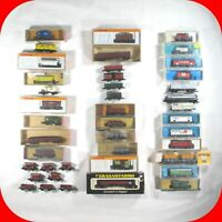 N Scale EUROPEAN-GERMAN CAR Variety lot -Arnold,Atlas,Trix -Wagon,Box,Tank  RARE
