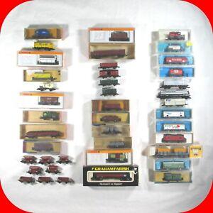 N Scale EUROPEAN-GERMAN CAR Variety lot -Arnold,Atlas,Trix -Wagon,Box,Tank  RARE