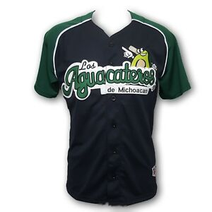 Los Aguacateros de Michoacan Men's Baseball Jersey Made in Mexico Stitched Logo