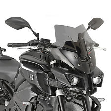 GIVI SPECIFIC LOW AND SPORTS SCREEN GLOSS BLACK YAMAHA MT-10 2016 36 X 36 CM
