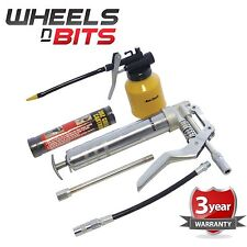 New Mini Pistol Grip Grease Gun Cartridge Kit & Oil Lubricant Lube Can Set UK