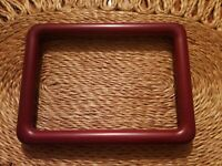 """Nice Vintage Cherry Wood Picture Frame Photo Holds 5"""" × 7"""" Rounded Sleek Edges"""
