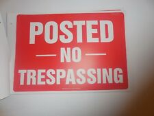 NEW PRE OWNED ACCUFORM POSTED NO TRESPASSING SIGNS  - 25 TOTAL - PF CARDSTOCK