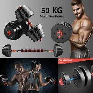 🎉50Kg Dumbbell Barbell Set Gym Weights Body Building Les Mills body pump 🎉