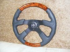 Sportlenkrad Lenkrad 360mm schwarz Holz Optik Oldtimer Youngtimer Mercedes BMW