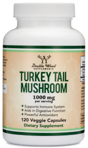 Turkey Tail Mushroom Supplement (500 mg, 120 capsules) (Coriolus Versicolor)